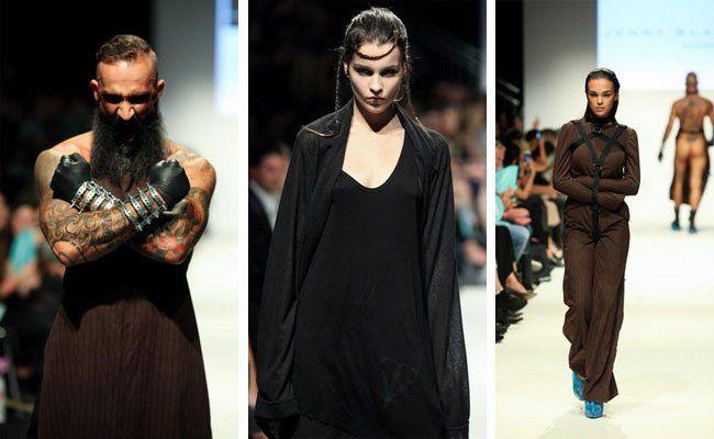 Ungewöhnliche Shows am Samstag auf der Wiener Modewoche.