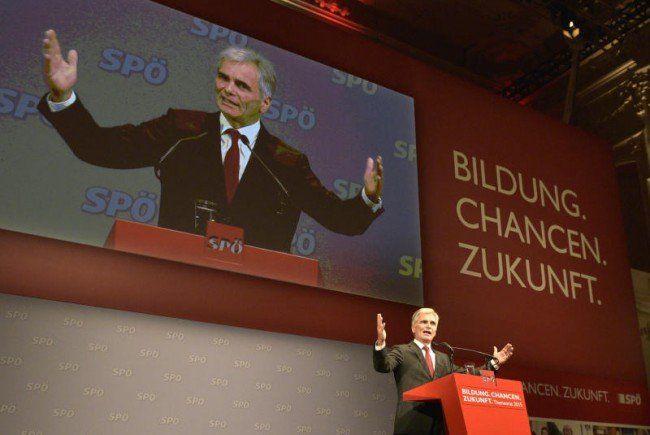 Bundeskanzler Faymann beim SP-Parteirat in Wien.