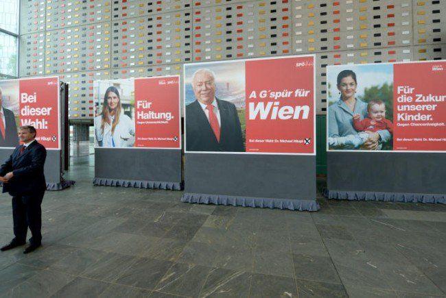Einmal geht's noch: Die Parteien zeigen die finale Plakatwelle.