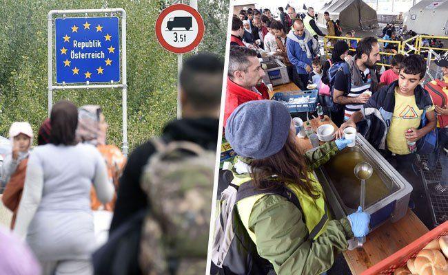 Flüchtlinge - Zustrom nach Österreich hält unvermindert an