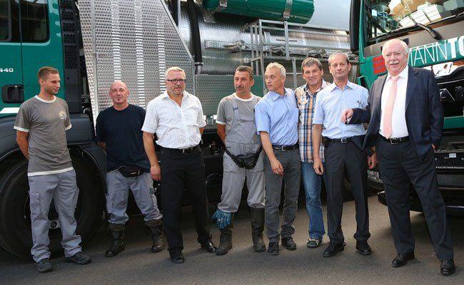 Häupl besuchte die Mitarbeiter von Wien Kanal.