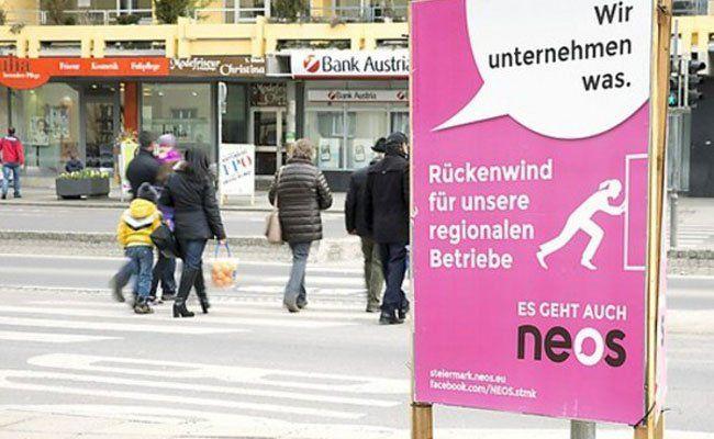 Kleinparteien wie die NEOS kämpfen um Wien und Salzburg.