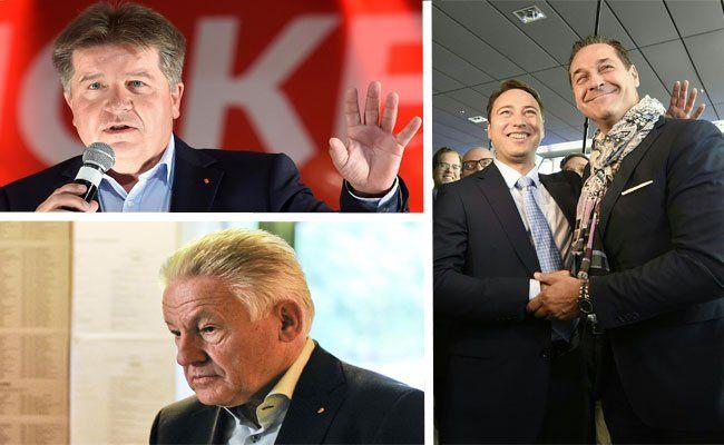 Die ersten Reaktionen der Parteien nach der OÖ-Wahl 2015.