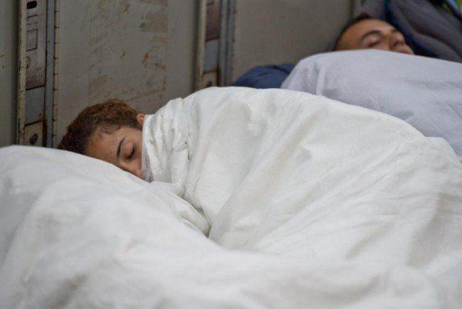 Weiterhin schlafen Tausende Flüchtlinge in Wiener Quartieren.