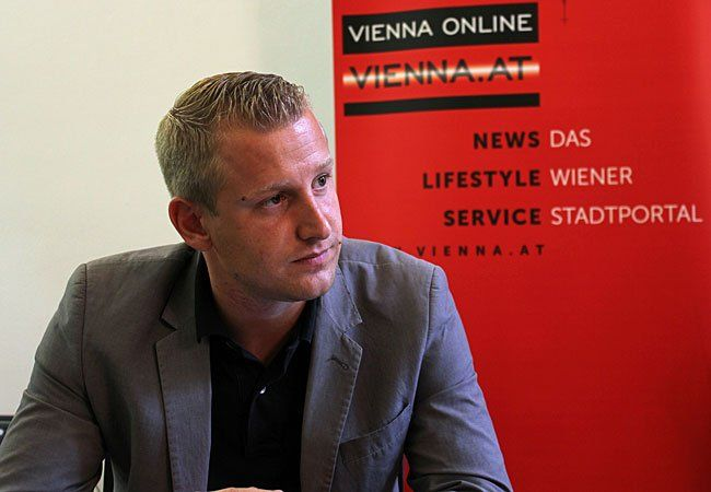Michael Dedic von der SPÖ beim Interview mit VIENNA.at