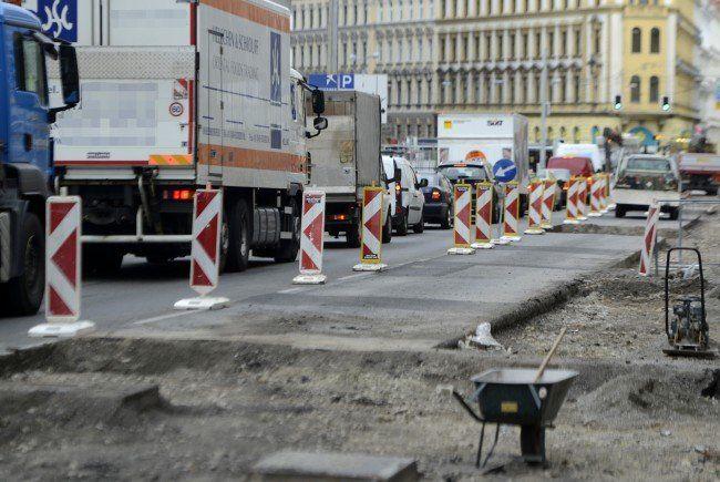 Ab Montag wird in der Aspernstraße gebaut.