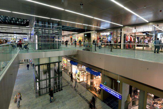 Das Einkaufszentrum am Wiener Hauptbahnhof.