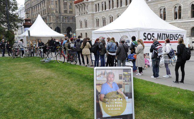 """Menschen ohne Wahlrecht konnten bei """"Pass egal"""" trotzdem bei der Wien-Wahl teilnehmen, wenn auch nur symbolisch."""