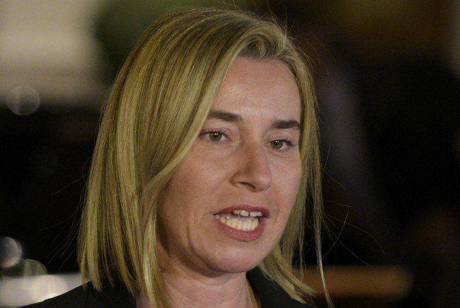 Mogherini hofft auf eine Lösung des Syrien-Konfliktes.