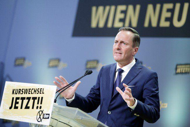 ÖVP-Spitzenkandidat Manfred Juraczka beim Wahlkampfauftakt