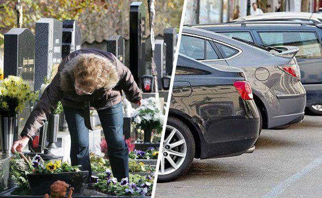 Wer an einem Werktag zum Friedhof fährt, sollte an den Parkschein denken