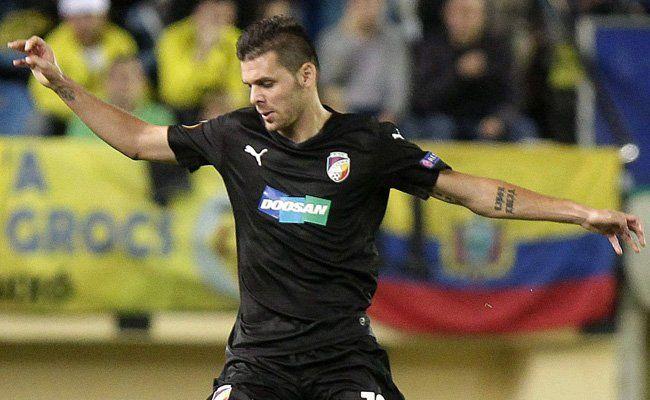 Michal Duris will Donnerstagnacht auch gegen Rapid treffen.