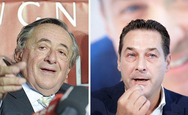Lugner trifft in seiner Lugner City auf Strache und weitere Spitzenkandidaten
