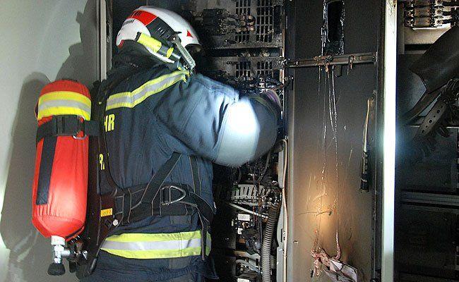Der Brand des Niederspannungshauptstromverteilers konnte rasch gelöscht werden