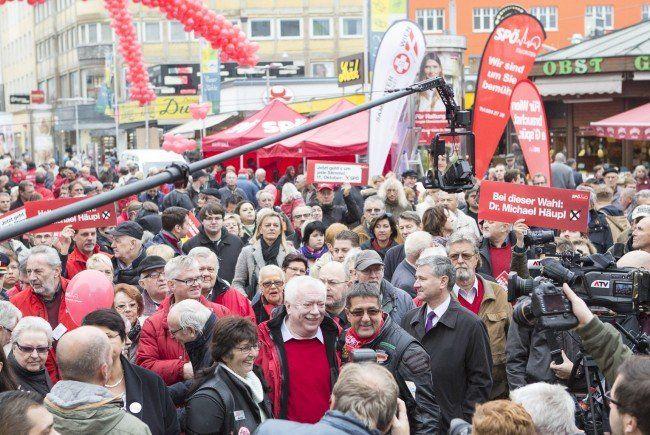 Die Parteien waren auch am Samstag vor der Wien-Wahl noch auf Stimmenfang.