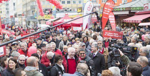 Parteien auch am Samstag noch auf Stimmenfang unterwegs