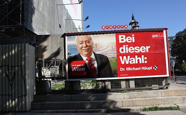 Damit SPÖ-Plakate nicht zum Opfer von Vandalen werden, setzt man auf Securitys