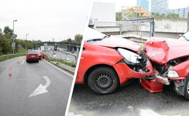 Bilder vom Unfallsort an der A22.