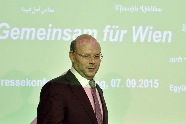 """Spitzenkandidat Turgay Taskiran bei Präsentation der Liste """"Gemeinsam für Wien""""."""