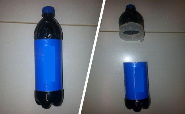 Die umgebaute PET-Flasche.