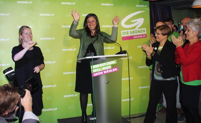 Gute Stimmung beim Wahlkampffinale der Grünen.