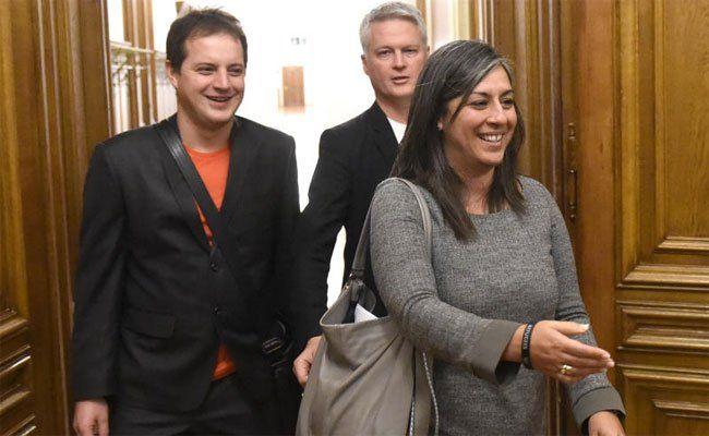 Parteiengespräch mit Grünen-Landessprecher Georg Prack, Vizebürgermeisterin Maria Vassilakou (Grüne) und Grünen-Klubchef David Ellensohn.