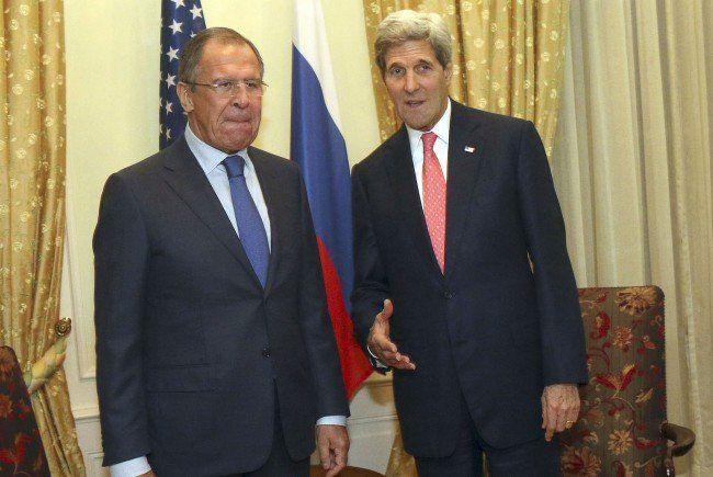 Kerry und Lawrow kommen am Freitag nach Wien.