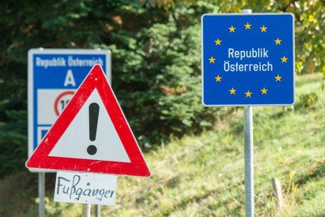 An der österreichischen Grenze.