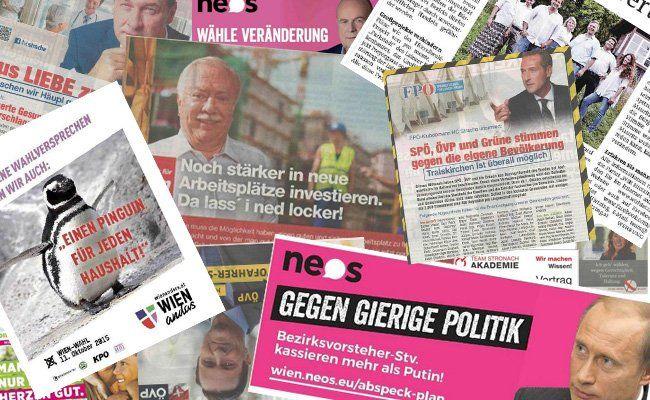Hohe Werbeausgaben für politische Inserate und Wahlwerbung in Wien.