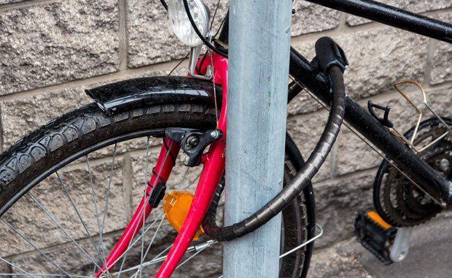 Der Fahrraddieb wurde festgenommen.