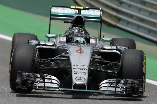 Nico Rosberg holte knapp vor Hamilton die Pole-Position.