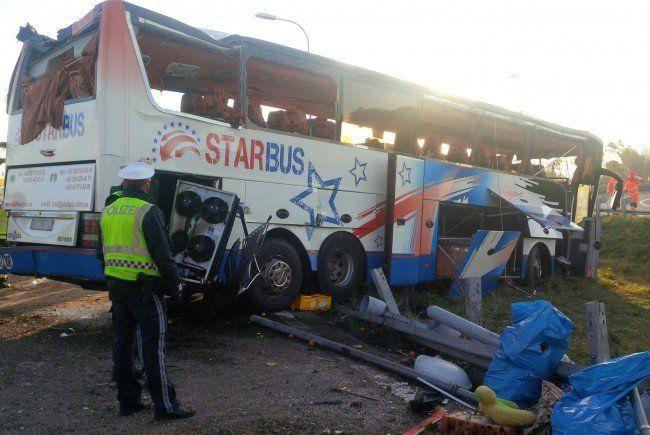 Auf S1 in Schwechat verunglückter Autobus war zu schnell unterwegs