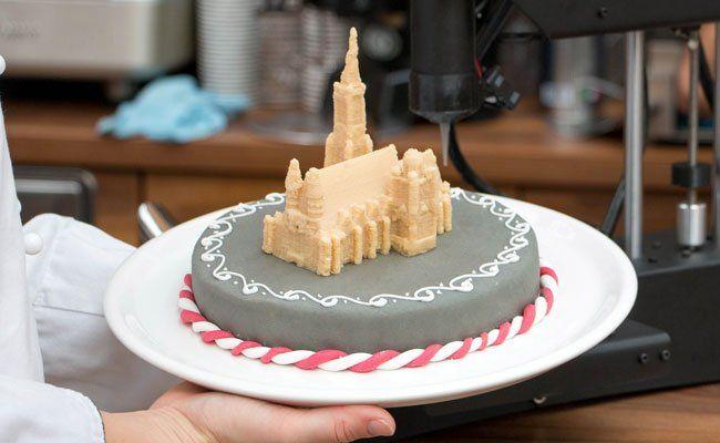 Mit dem 3D-Drucker können Lebensmittel kunstvoll gestaltet werden.