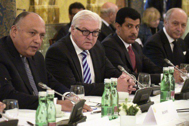 Der deutsche Außenminister Steinmeier verkündete die Einigung bei der Syrien-Konferenz.