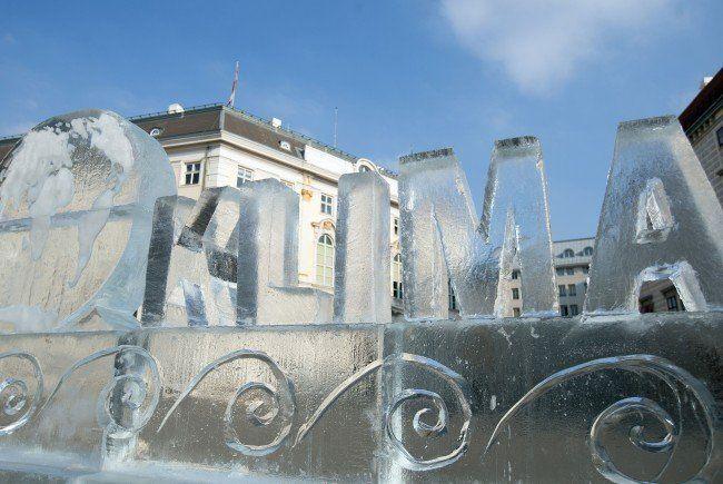 Das Eisdenkmal am Wiener Ballhausplatz.