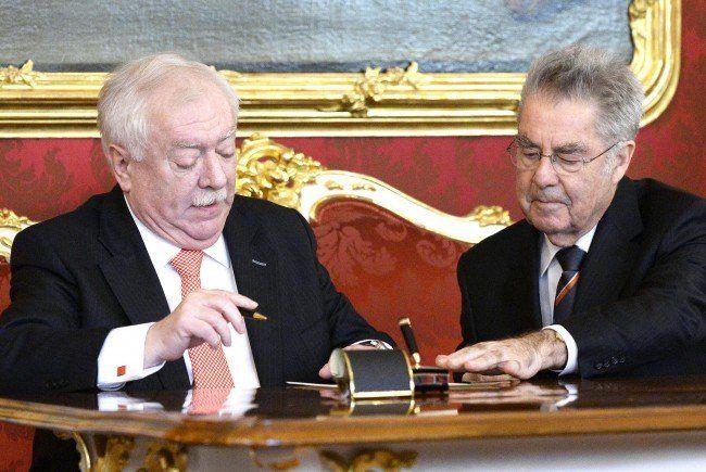 Michael Häupl wurde für eine weitere Amtszeit angelobt.
