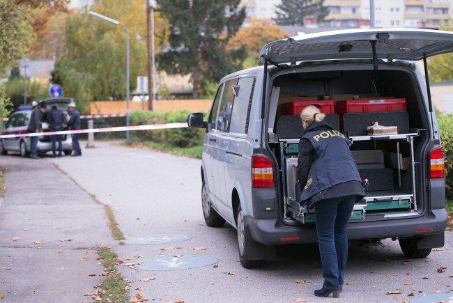 Am Tatort in Wien-Donaustadt.