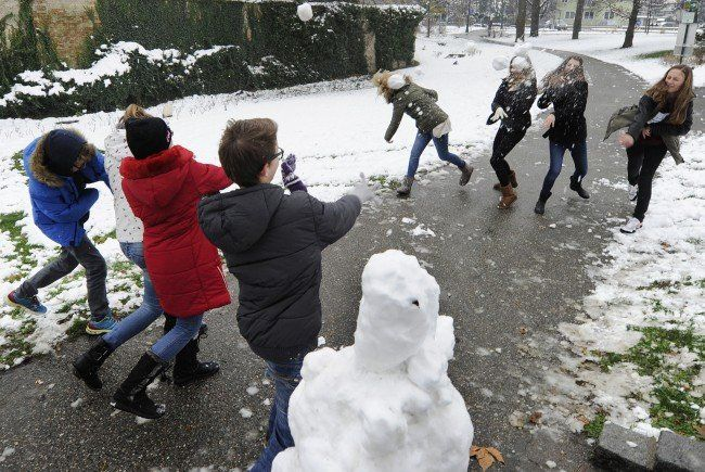 Der erste Schnee in Österreich