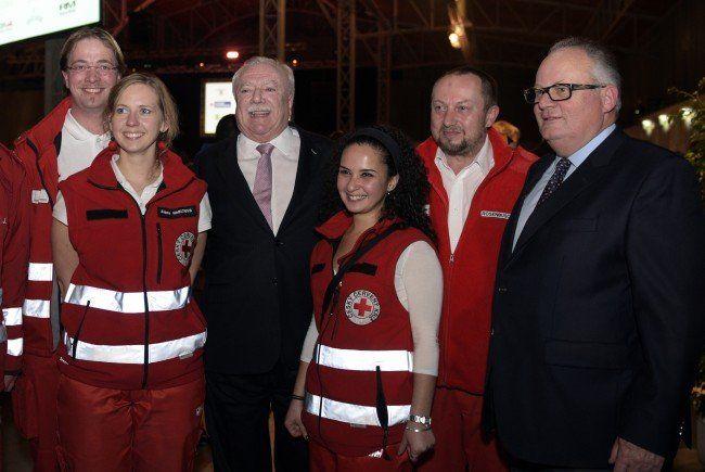 Bürgermeister Michal Häupl dankte 2.000 Flüchtlingshelfern.