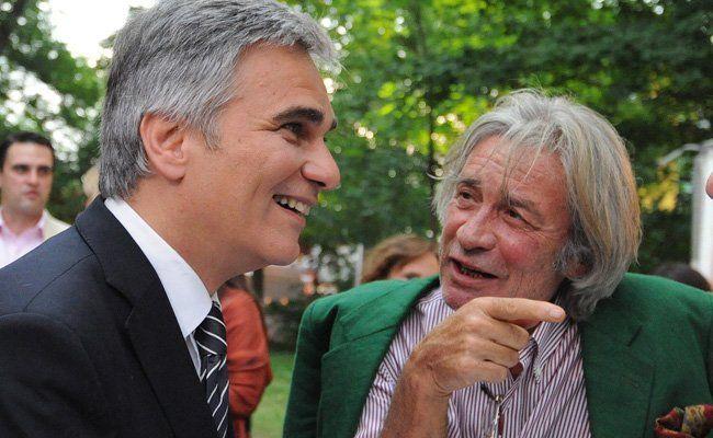 Michael Jeannée hier im Gespräch mit Kanzler Werner Faymann.