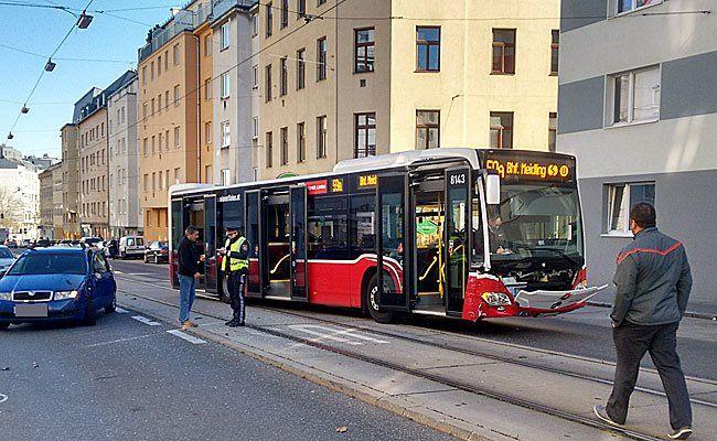 An der Unfallstelle in Wien-Meidling