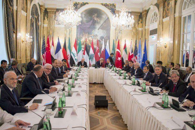 17 Länder tagen bei der Syrien-Konferenz in Wien.