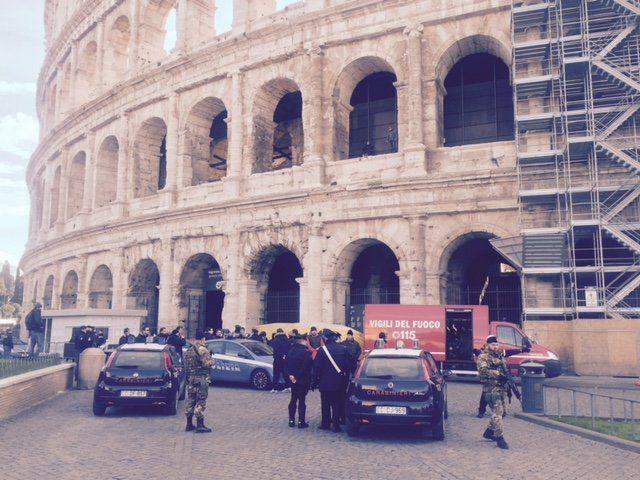 Aufregung vor dem Kollosseum in Rom.