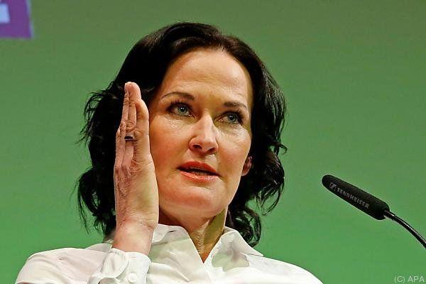 Grünen-Chefin Eva Glawischnig bleibt ihrer Linie treu