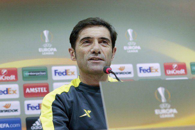 Villarreal-Coach Marcelino García Toral will mit seiner Mannschaft den Gruppensieg.
