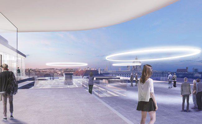 Die Pläne für den Dachaufbau am MQ wurden beschlossen.