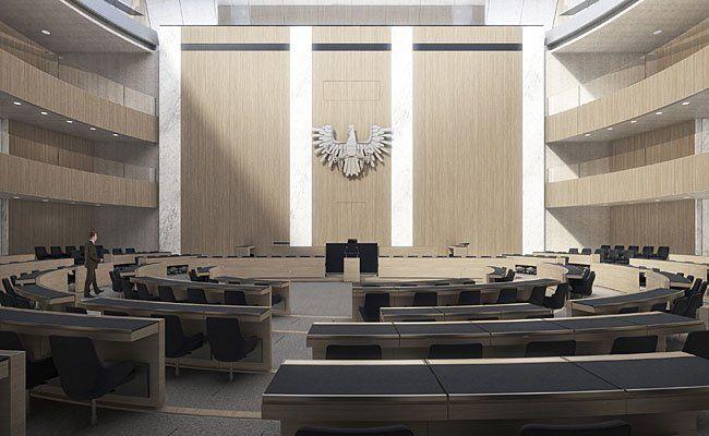 So wird das neue Parlament dem Rendering zufolge aussehen