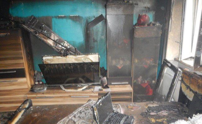 Neun Hausbewohner erlitten eine Rauchgasvergiftung.