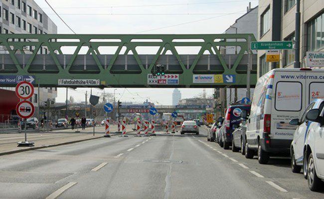 Die Brünner Straße wird kommendes Wochenende nicht befahrbar sein.