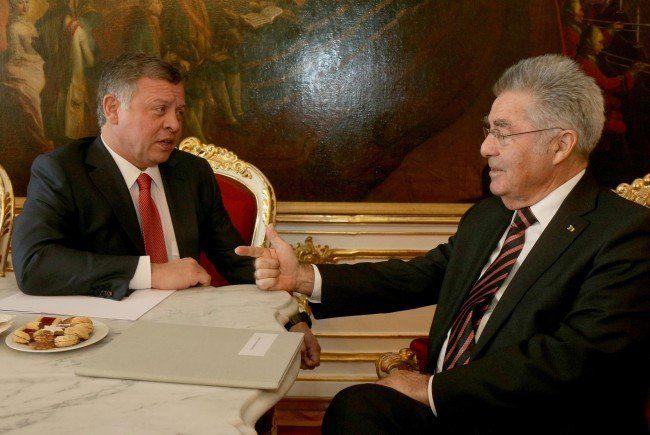 König Abdullah II. mit Bundespräsident Fischer.